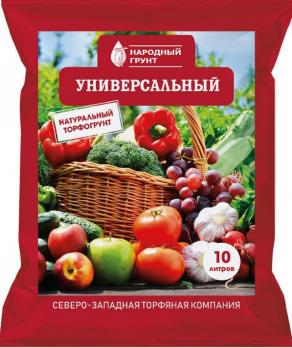 """Грунт универсальный 10л """"Народный грунт"""""""