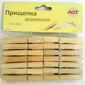 Прищепки деревянные 14шт (1\180) АСТ