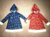 Плащ-дождевик детский рост 116, светоотражающие вставки