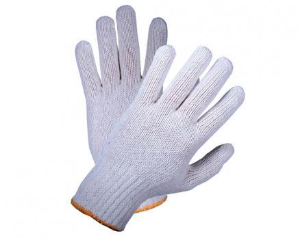 Перчатки х/б белые 5н10кл (1\10\400) 45-48гр