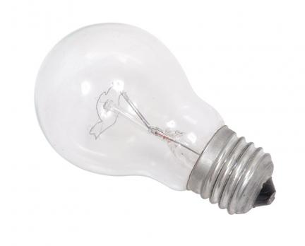 Лампа Е27 А60 прозрачная (1\10\100) КОСМОС