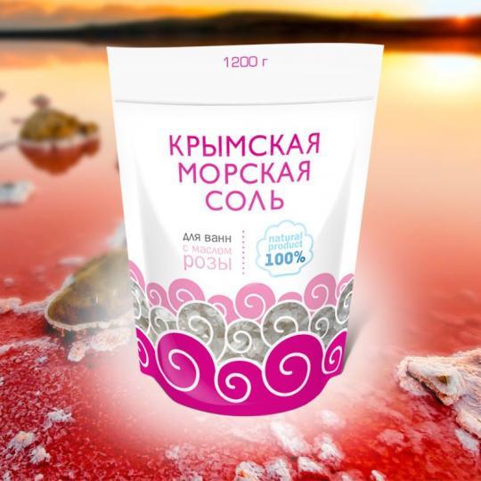 Крымская морская соль 1100г (1\9) КС