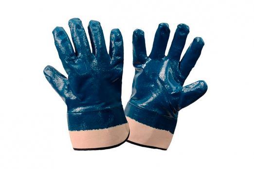 Перчатки нитриловые Крага, полный облив