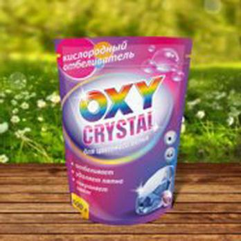 Кислородный отбеливатель  для цветного белья 600г,Oxy crystai  СТ-18