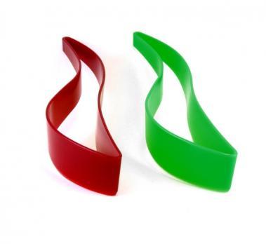 Нож для торта, зеленый\красный (1\25)