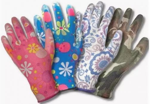 Перчатки нейлон полеуретан-ЦВЕТОЧЕК (1\12\1200) PU505