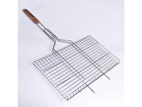 Решетка-гриль плоская,дер.ручка620Х350Х260 (224-2)