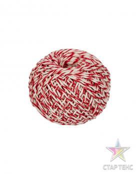 Шнур Х\Б 50м бело-красный клубок (1\60)
