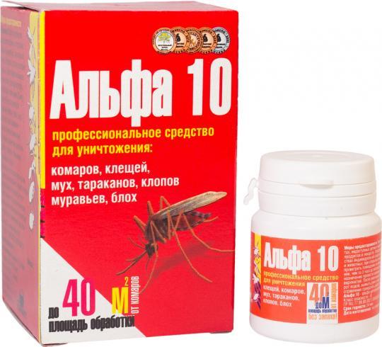 Альфа 10, сухой концентрат, от тараканов, муравьев, клопов, блох (1\30)