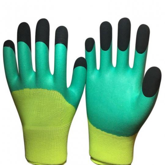 Перчатки нейлон облитые вспененным латексом 3\4  (1\12)
