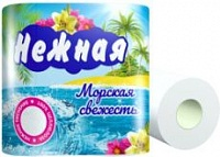 "Туалетная бумага ""НЕЖНАЯ"" Морская Свежсвежесть (1\4\12)"