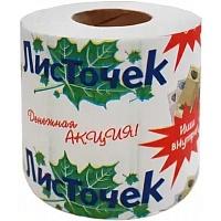 """Туалетная бумага """"ЛИСТОЧЕК"""" на втулке (1\60)"""