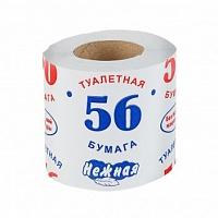 """Туалетная бумага """"56 НЕЖНАЯ"""" на втулке (1\72)"""