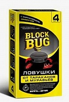 Ловушки от тараканов и муравьёв 4шт/уп (1\24) Block Bug