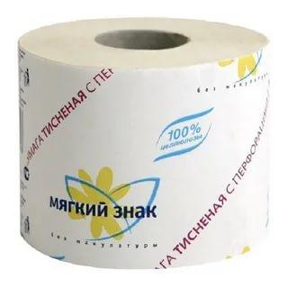 Туалетная бумага мягкий знак 1-слойная