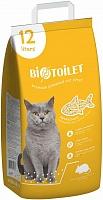 Наполнитель для туалета кошек, древесный 12л, BIOTOILET