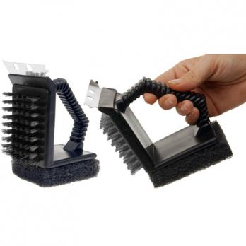 Щетка 3в1 для чистки решеток гриль