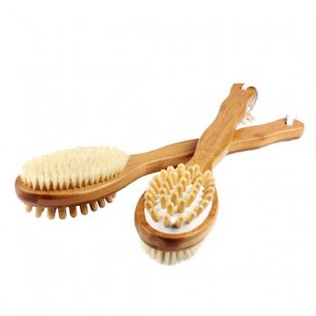Щетка массажер для тела, банная, деревянная ручка, 40см