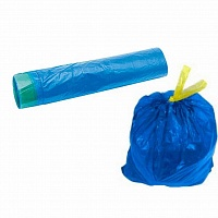 Пакеты с завязками для мусора, 120л\10шт